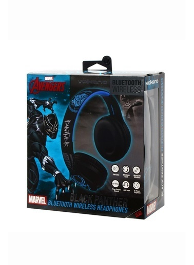 Volkano Marvel Avengers Black Panther Kara Panter Bluetooth Kulaklık Kablosuz Radyolu Lisanslı MV-1007-BP Renkli